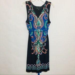 Valerie Bertinelli Multicolor Paisley Dress